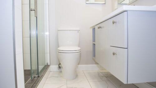 Modern Grey and White Medford Bathroom Remodel