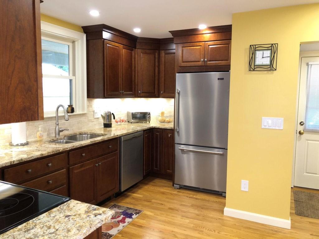Warm Cherry Kitchen Cabinets Wakefield MA