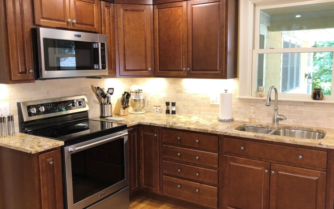 Warm Cherry Kitchen Remodel in Wakefield