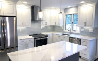 White and Grey Kitchen Remodel in Peabody