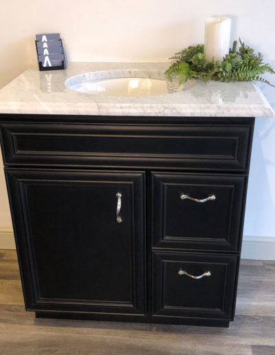 Black Bathroom Vanity McGuire Kitchen Bath Showroom in Wakefield MA