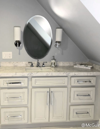 Glam Master Bathroom in Stoneham MA
