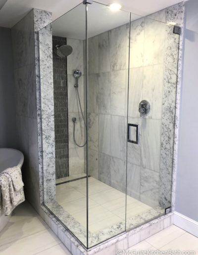Custom Shower - Glam Master Bathroom in Stoneham MA