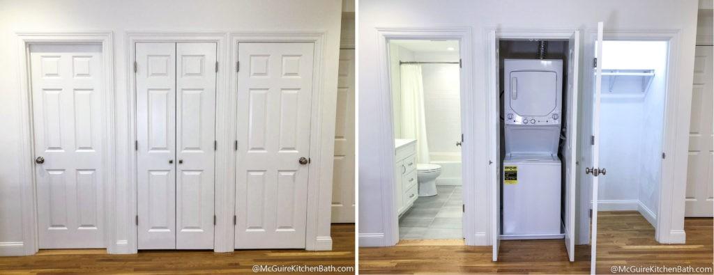 Cambridge Condo Remodel - Laundry Closet