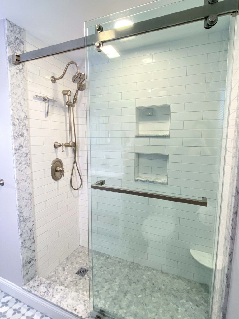 Stoneham bathroom remodel custom shower