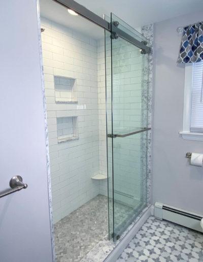Stoneham bathroom remodel custom shower