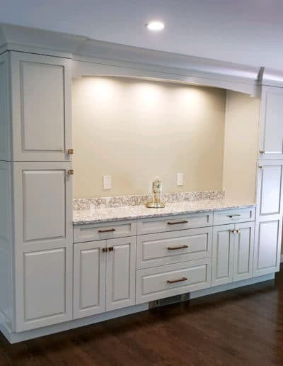 Kitchen Remodel with built-in buffet - McGuire Kitchen Bath Wakefield MA