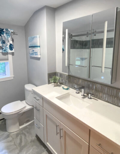 Woburn Gray and White Bathroom Remodel