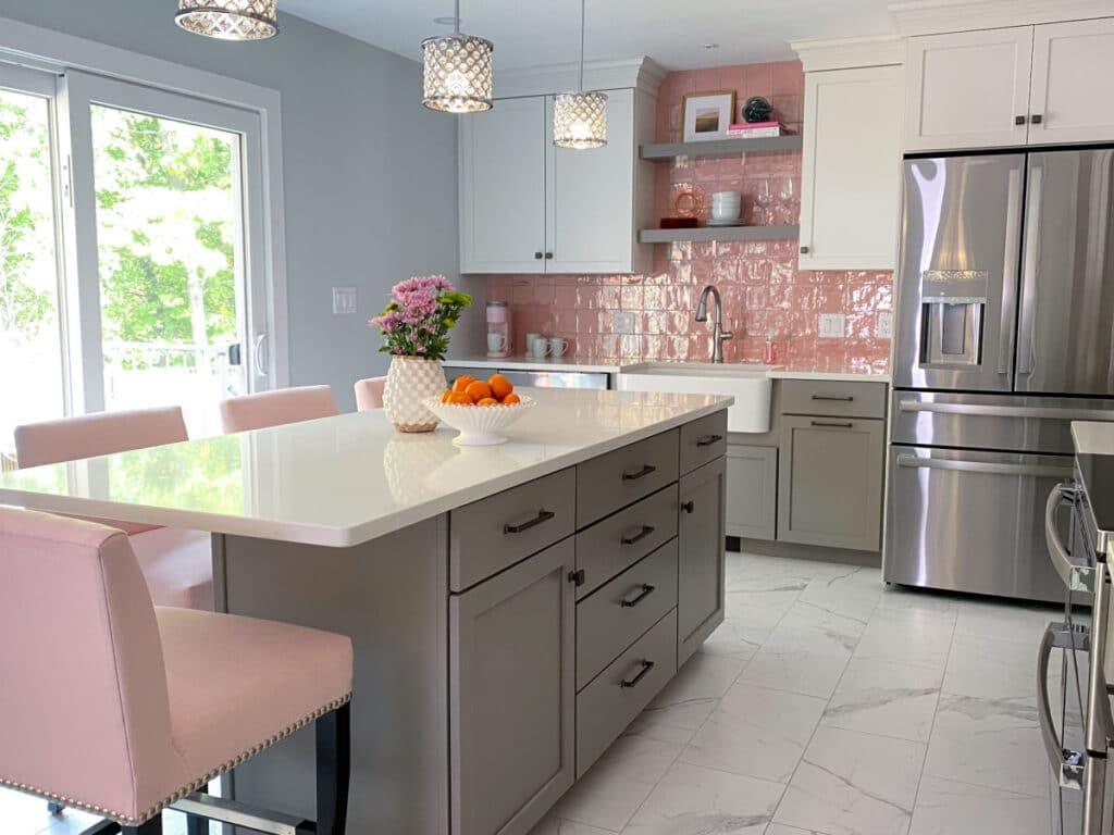 Pink Kitchen After