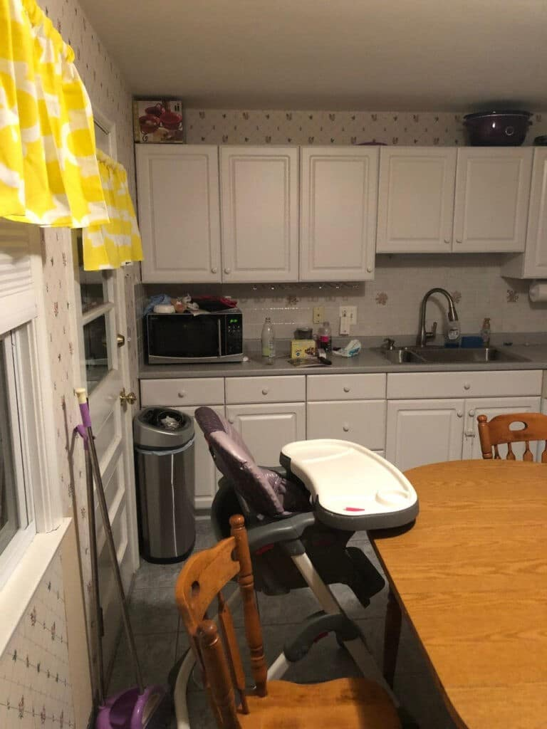 Pink Kitchen Before