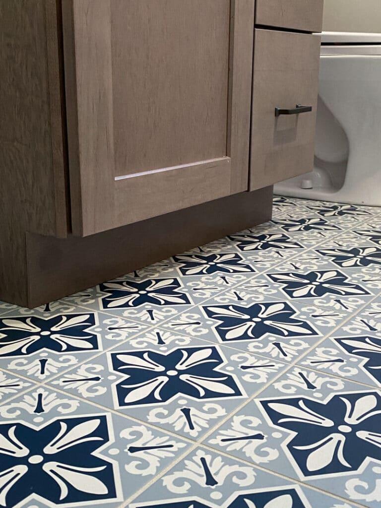 Porcelain Floor Tile in Family Bathroom Makeover in Wakefield MA