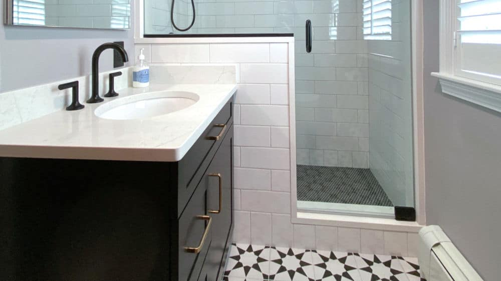 Black and White Art Deco Bathroom Remodel