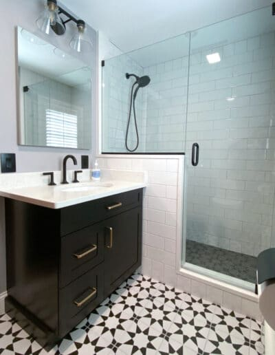 Black and White Bathroom After
