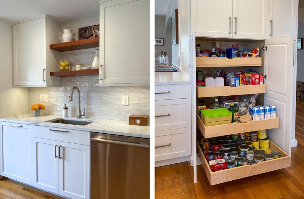 Frameless Full Access Kitchen Cabinets