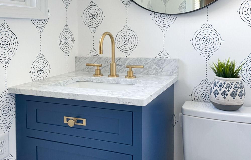 Powder Room Bathroom Design Melrose MA
