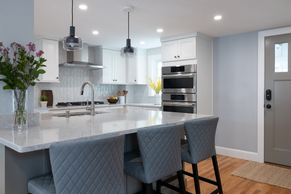 Wakefield Kitchen Remodel Gray and White Cabinets