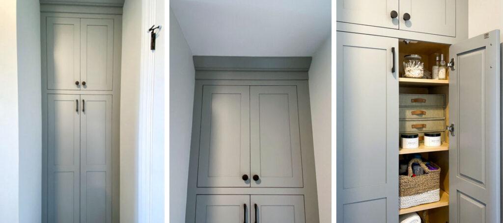 Melrose Marble Bathroom Remodel Linen Cabinet