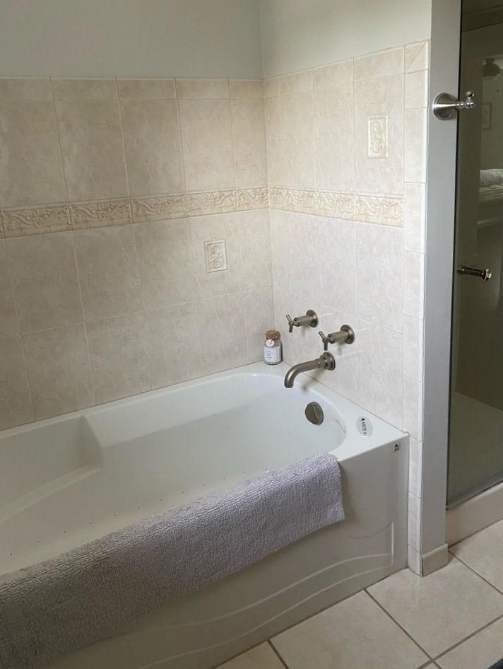 BEFORE Melrose Marble Bathroom