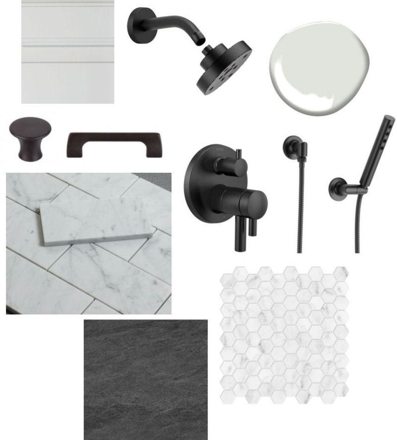 Melrose Marble Bathroom Remodel Materials